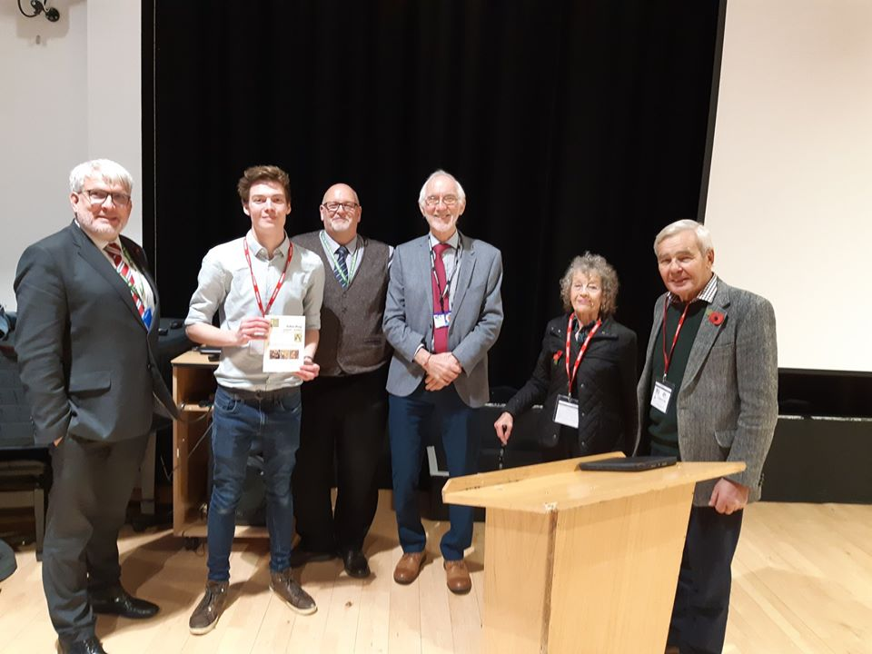 Matthew Lewis with Trustees and staff from Notley High School